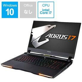 GIGABYTE ギガバイト XA-7JP2130SH ゲーミングノートパソコン AORUS 17 ブラック [17.3型 /intel Core i7 /SSD:512GB /メモリ:16GB /2019年12月モデル][AORUS17XA7JP2130SH]