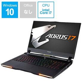 GIGABYTE ギガバイト ゲーミングノートパソコン AORUS 17 ブラック WA-7JP1130SH [17.3型 /intel Core i7 /SSD:512GB /メモリ:16GB /2019年12月モデル][AORUS17WA7JP1130SH]