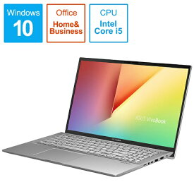 ASUS エイスース S531FA-BQ259TS Office搭載ノートパソコン VivoBook S15 トランスペアレントシルバー [15.6型 /intel Core i5 /HDD:1TB /SSD:512GB /メモリ:8GB /2019年12月モデル][S531FABQ259TS]