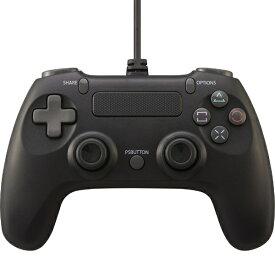 サイバーガジェット CYBER Gadget PS4/SWITCH用 ワイヤードコントローラーライト ブラック CY-NSP4WCL-BK【PS4/Switch】