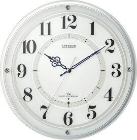 リズム時計 RHYTHM 掛け時計 白 4MY859-003 [電波自動受信機能有]