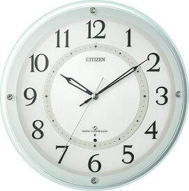 リズム時計 RHYTHM 掛け時計 緑透明色 4MY859-005 [電波自動受信機能有]