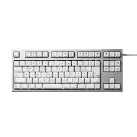 東プレ Topre キーボード REALFORCE TKL for Mac シルバー / ホワイト R2TL-JPVM-WH [USB /有線][R2TLJPVMWH]