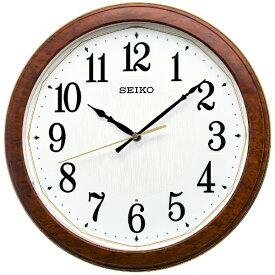 セイコー SEIKO 掛け時計 【ライト点灯】 濃茶木目模様 KX260B [電波自動受信機能有]