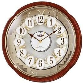 リズム時計 RHYTHM からくり時計 【スモールワールドコンベルS】 木目仕上げ 4MN480RH23 [電波自動受信機能有]