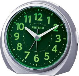 リズム時計 RHYTHM 目覚まし時計 ルークR666 シルバーメタリック色(集光樹脂) 8RE666SR19 [アナログ]