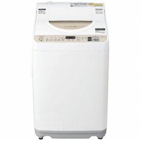 シャープ SHARP ES-T5DBK-N 縦型洗濯乾燥機 ゴールド系 [洗濯5.5kg /乾燥3.5kg /ヒーター乾燥 /上開き][洗濯機 5kg]【point_rb】