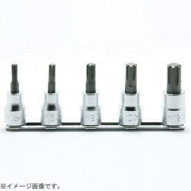 山下工業研究所 KO-KEN TOOL RS3027/5-L50 3/8インチ(9.5mm) CVビットソケットレールセット 全長50mm 5pc RS3027/5L50