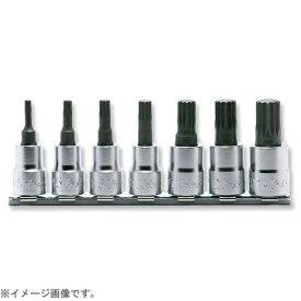 山下工業研究所 KO-KEN TOOL RS3020/7-L50 3/8インチ(9.5mm) 3重4角ビットソケット(XZN規格)レールセット 全長50mm 7pc RS3020/7-L50