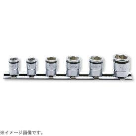 山下工業研究所 KO-KEN TOOL RS2450MS/6 1/4インチ(6.35mm)ナットグリップソケットレールセット 6pc RS2450MS/6