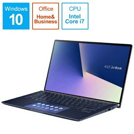 ASUS エイスース UX434FLC-A6357TS ノートパソコン ZenBook 14 ロイヤルブルー [14.0型 /intel Core i7 /Optane:32GB /SSD:512GB /メモリ:16GB /2019年12月モデル][14インチ office付き 新品 windows10]