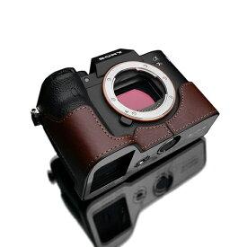 GARIZ ゲリズ SONY α7R IV 用 本革カメラケース ブラウン XS-CHA7RM4BR