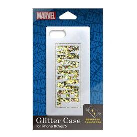 PGA iPhone 8/7/6s/6用 グリッターケース ロゴ/ホワイト Premium Style ロゴ/ブラック PG-DLQ17M02MVL