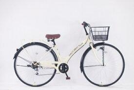 サイモト自転車 SAIMOTO 27型 自転車 ダカラットノエル(パールアイボリー/外装6段変速)【2020年モデル】【組立商品につき返品不可】 【代金引換配送不可】