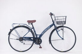 サイモト自転車 SAIMOTO 27型 自転車 ダカラットノエル(ミッドナイトブルー/外装6段変速)【2020年モデル】【組立商品につき返品不可】 【代金引換配送不可】