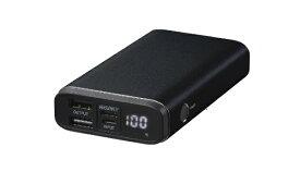 グリーンハウス GREEN HOUSE モバイル充電器 PD18W対応[USB Power Delivery対応] ブラック GH-BTPF100-BK [10000mAh /USB Power Delivery対応 /3ポート /充電タイプ]