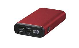 グリーンハウス GREEN HOUSE モバイル充電器 PD18W対応 10000mA レッド レッド GH-BTPF100-RD [10000mAh /3ポート /USB Power Delivery対応 /充電タイプ]