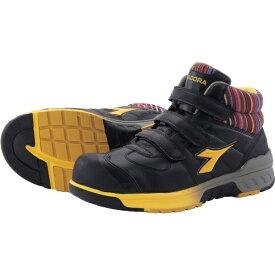 ドンケル DONKEL ディアドラ 安全作業靴 ステラジェイ 黒/黄 25.0cm SJ25250