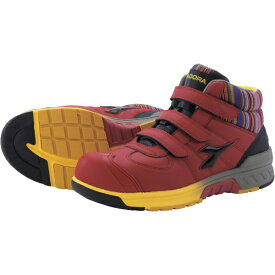 ドンケル DONKEL ディアドラ 安全作業靴 ステラジェイ 赤/黒 25.0cm SJ32250
