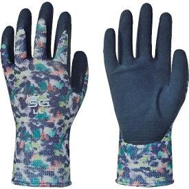 東和コーポレーション TOWA CORPORATION トワロン 天然ゴム背抜き手袋 SG−R102 ぼかし柄ブルー LL SG-R102-LL
