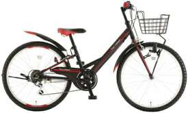 アサヒサイクル Asahi Cycle 24型 子供用自転車 フルフォ-ス アタッカ-246(ブラック×レッド/外装6段変速) CAV246【2020年モデル】【組立商品につき返品不可】 【代金引換配送不可】