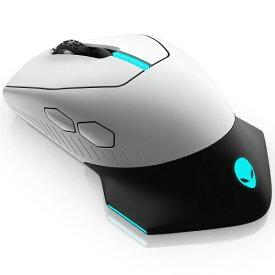 DELL デル ゲーミングマウス ALIENWARE シルバーホワイト AW610M-L [光学式 /有線/無線(ワイヤレス) /7ボタン /USB][AW610ML]