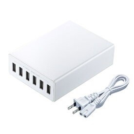 サンワサプライ SANWA SUPPLY USB充電器 ホワイト ACA-IP67W
