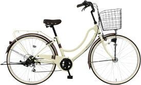 MARUKIN マルキン 26型 自転車 FLOATMIX フロートミックス(ベージュ/外装6段変速)MK-20-039【2020年モデル】【組立商品につき返品不可】 【代金引換配送不可】