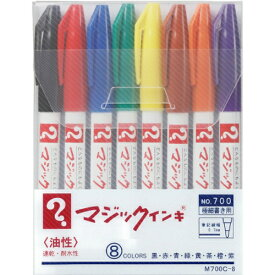 寺西 Teranishi Chemical Industry マジックインキNo7008色セット M700C-8