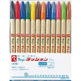 寺西 Teranishi Chemical Industry マジックラッションペンNo30012色セット M300C-12