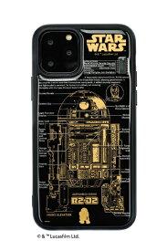電子技販 DENSHI-GIHAN FLASH R2-D2 基板アートiPhone 11Pro ケース 黒 IP11P-250B