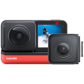 Insta360 レンズ交換対応アクションカメラ [Insta360 ONE R ツイン版] 360度モジュール + 4K広角モジュール CINAKGP/A [4K対応 /防水]