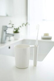 山崎実業 Yamazaki タンブラー&トゥースブラシスタンド ミスト(Tumbler&ToothBRush Stand Mist WH) ホワイト 02216