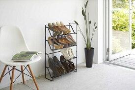 山崎実業 Yamazaki スリムシューズラック フレーム4段 ブラック(Frame Slim Shoe Rack BK) ブラック 02392