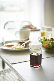 山崎実業 Yamazaki プッシュ式醤油差し アクア(Soy Sauce Cruet AQUA) ホワイト 02883
