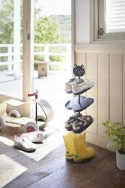 山崎実業 Yamazaki キッズシューズラック ネコ(Cat Kids Shoe Rack BK) 07964