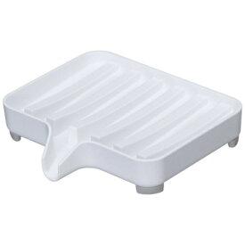 山崎実業 Yamazaki 水が流れるソープトレー ミスト(Soap Tray) ホワイト 03249