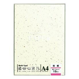 マルアイ MARUAI OA-W5 〔各種プリンタ〕 OA用紙 和紙 0.12mm [A4 /15枚] イエロー系