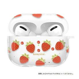 AREA エアリア KingXbar AirPodsPro対応ケース スワロフスキー使用 フルーツ柄 Strawberry ソフトケース KingXbar ストロベリー KXB-FSST