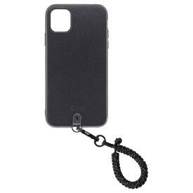 Straps ストラップス Straps(ストラップス) iPhone 11ケース+フィンガーストラップ スパークルブラック Straps(ストラップス) スパークルブラック KSTPS-F11-SPB