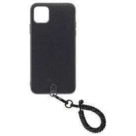 Straps ストラップス Straps(ストラップス) iPhone 11 Pro Maxケース+フィンガーストラップ スパークルブラック Straps(ストラップス) スパークルブラック KSTPS-F11PM-SPB