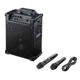 サンワサプライ SANWA SUPPLY ワイヤレスマイク付き拡声器スピーカー MM-SPAMP10