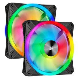 CORSAIR コルセア ケースファンx2[140mm / 1250RPM] iCUE対応 QL140 RGB Dual Fan Kit CO-9050100-WW