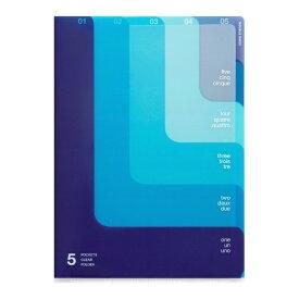 デザインフィル DESIGNPHIL 5ポケットクリアホルダー<A4>ツーウェイ柄青