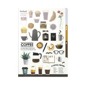 デザインフィル DESIGNPHIL 3ポケットクリアホルダー<A4>コーヒー柄
