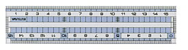 クツワ KUTSUWA 直線定規15cm HS160C