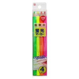 クツワ KUTSUWA 鉛筆の蛍光マーカー4色セット PA001