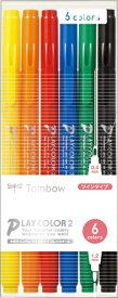 トンボ鉛筆 Tombow 水性サインペンTP6Cパック GCB-611