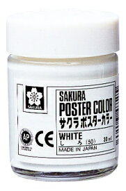 サクラクレパス SAKURA COLOR PRODUCT ポスターカラー30ml白