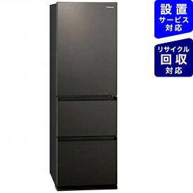 パナソニック Panasonic 《基本設置料金セット》NR-C371GNL-T 冷蔵庫 GNタイプ ダークブラウン [3ドア /左開きタイプ /365L][冷蔵庫 大型]